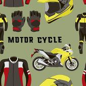 Fotografie Vektor-set Motorrad Zubehör Muster