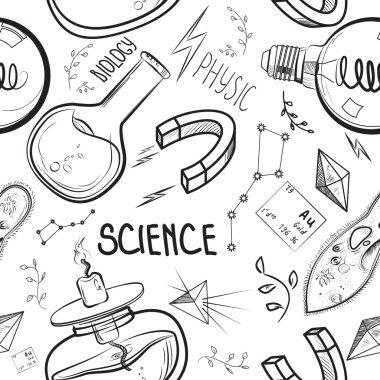 Hand drawn science set