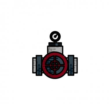 Water Pipes flat icon