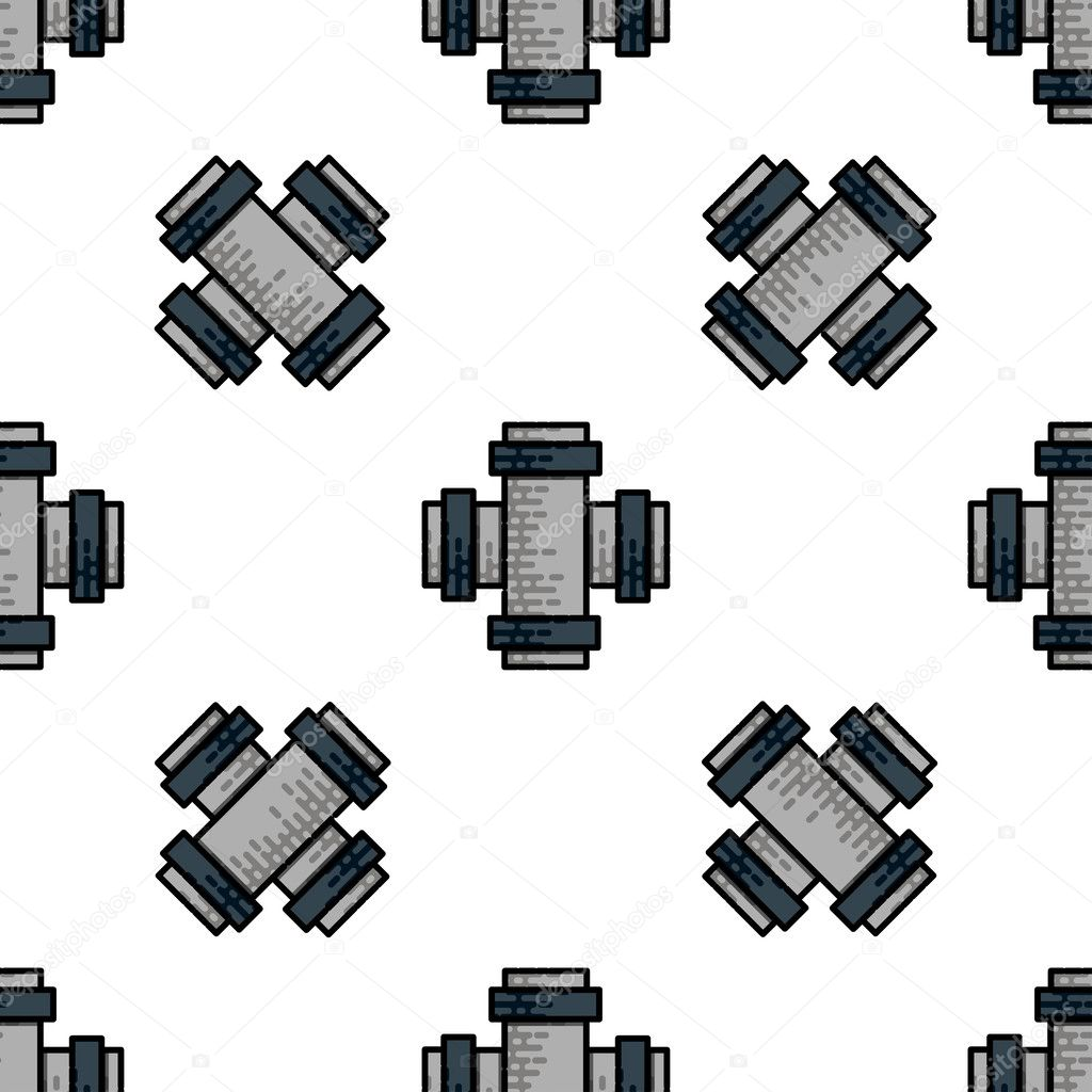 Water Pipes flat icon pattern