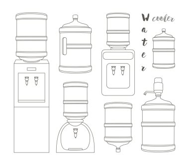 Icons for water cooler appliance