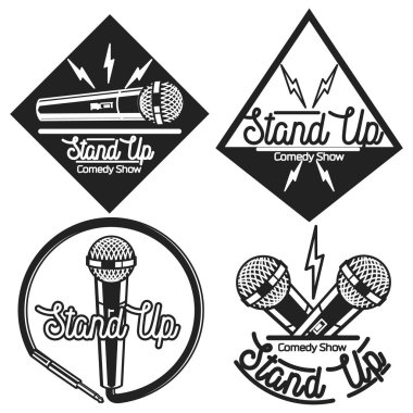 Vintage Stand up comedy show emblems