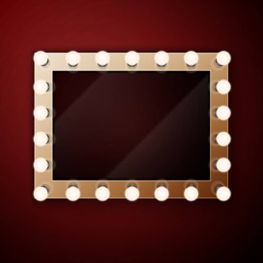 Make up mirror with light bulbs