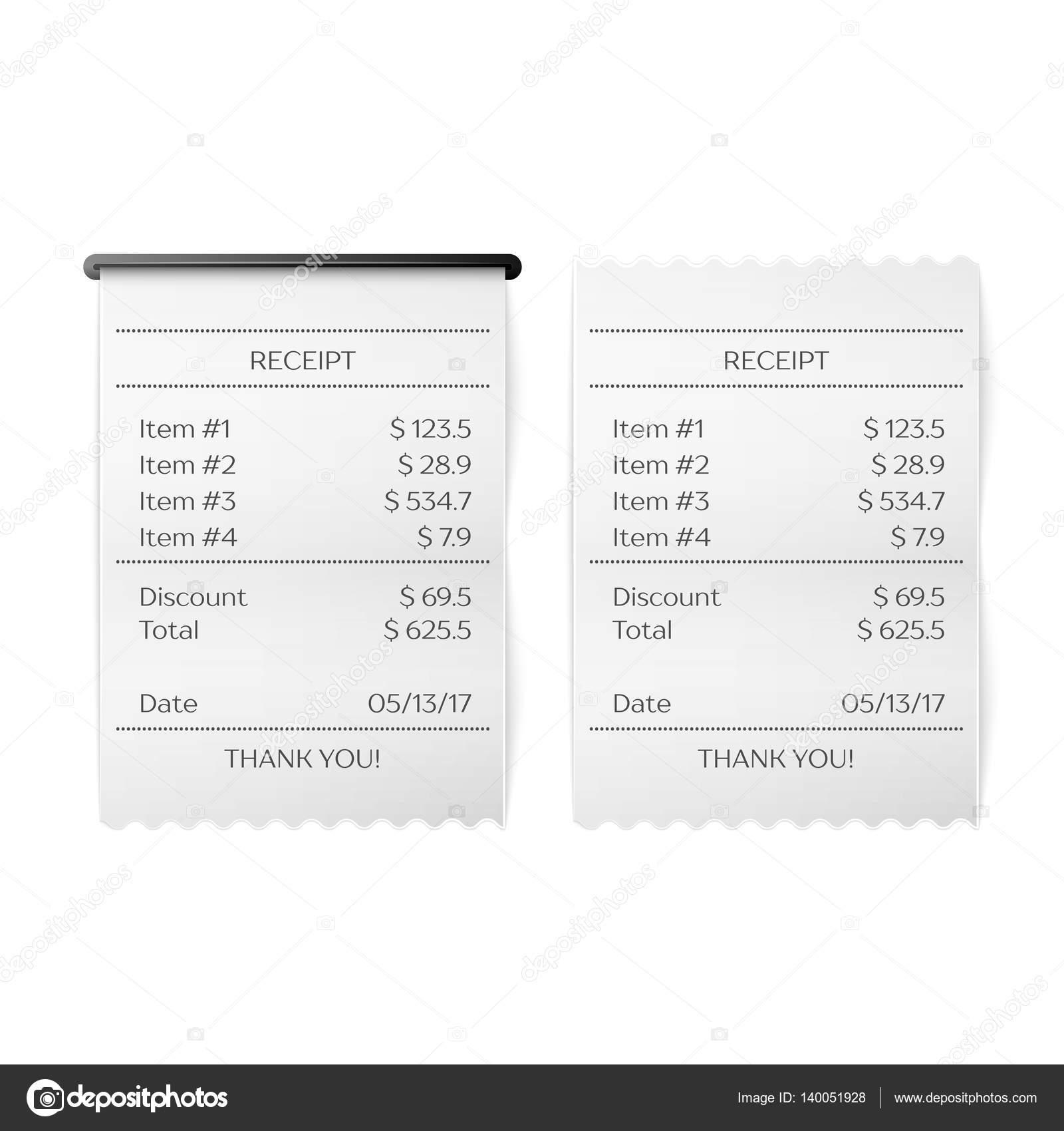 Gedruckte Quittung Vektor — Stockvektor © Netkoff #140051928