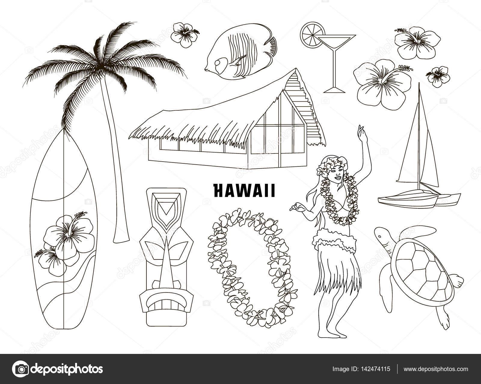 Simbolos Hawaianos Y Sus Significados Hawaiano Hawai Conjunto