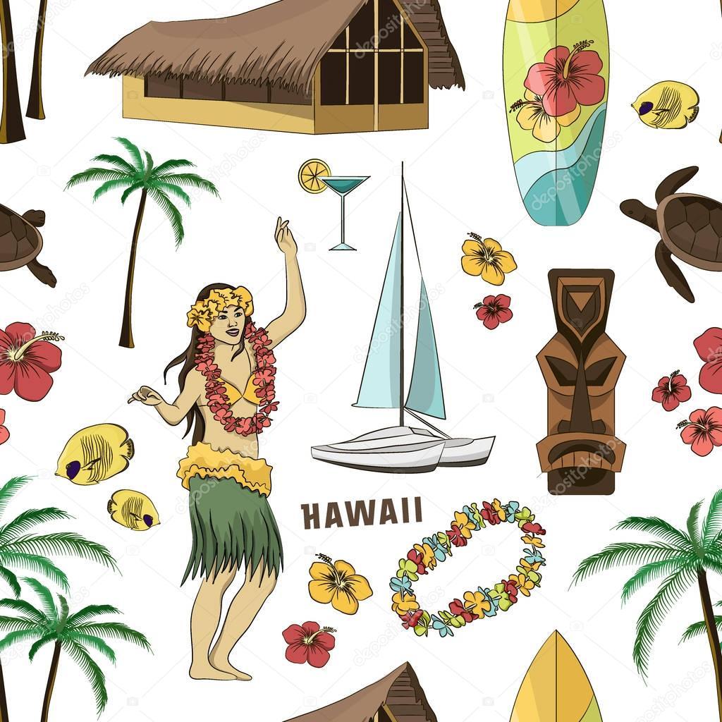 Hawaiian, Hawaii Set pattern