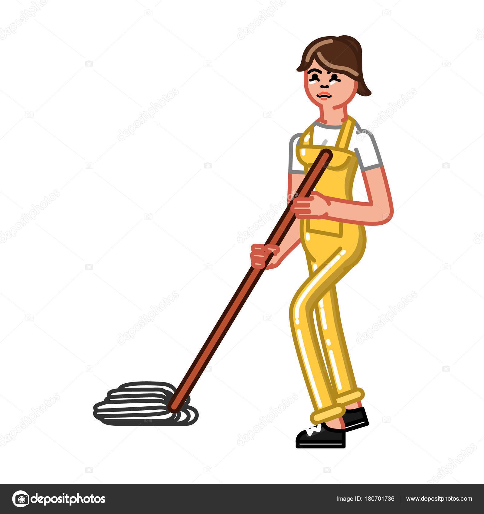 Donna di servizio di pulizia — Vettoriali Stock © Netkoff #180701736