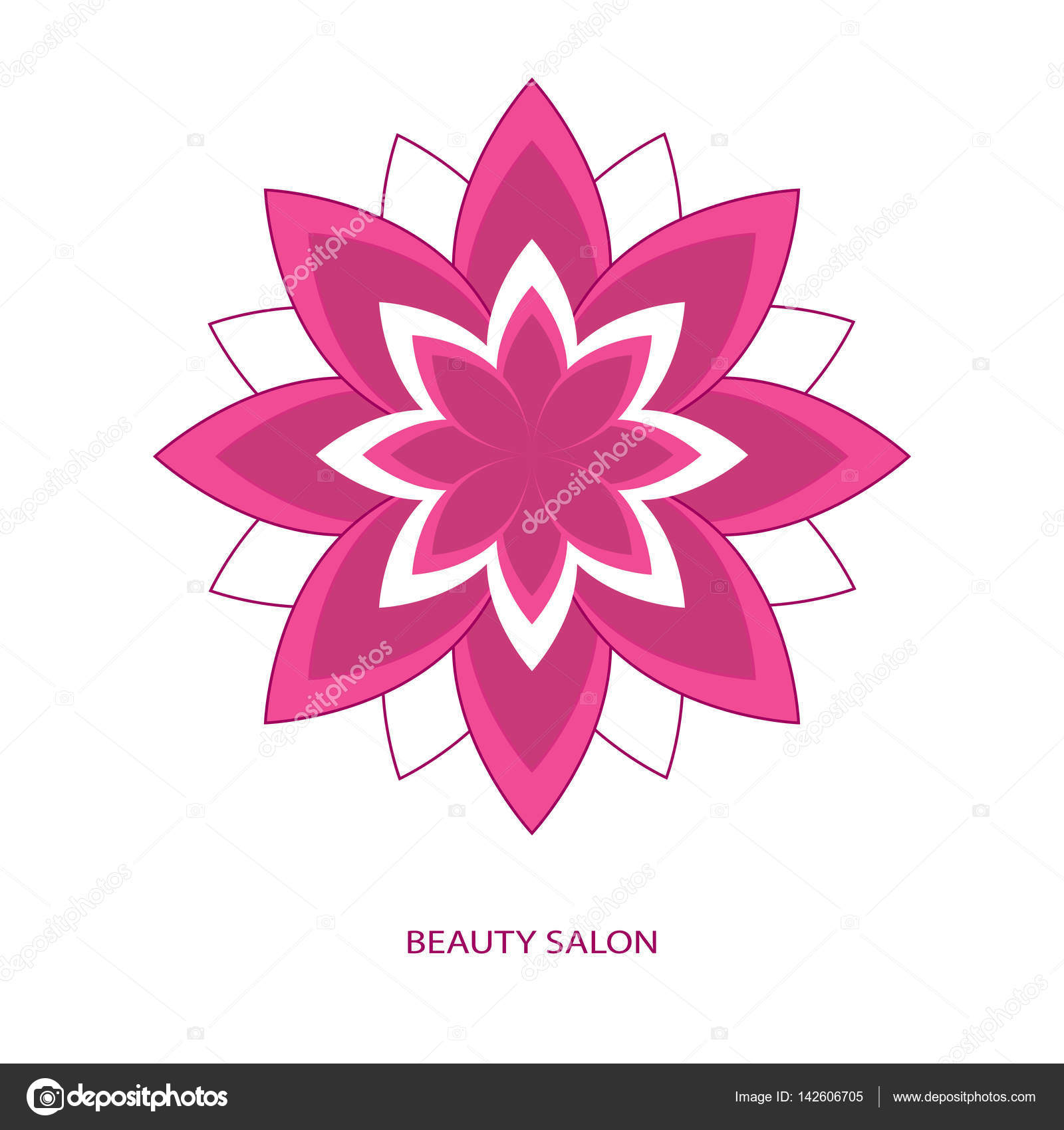 Logo beauty salon stock vector kozar12 142606705 logo beauty salon flower symbol vector by kozar12 izmirmasajfo