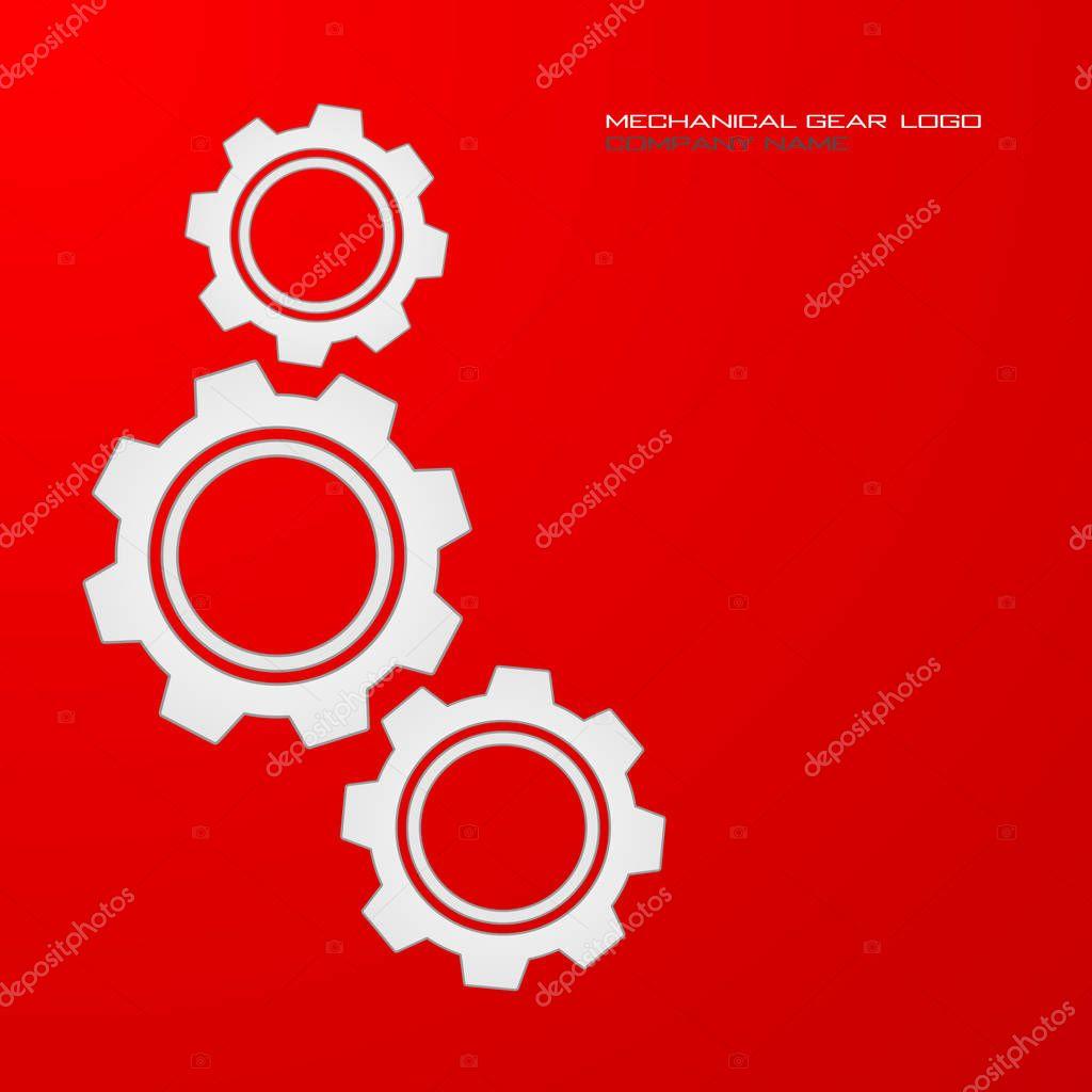 Mechanical gear logo
