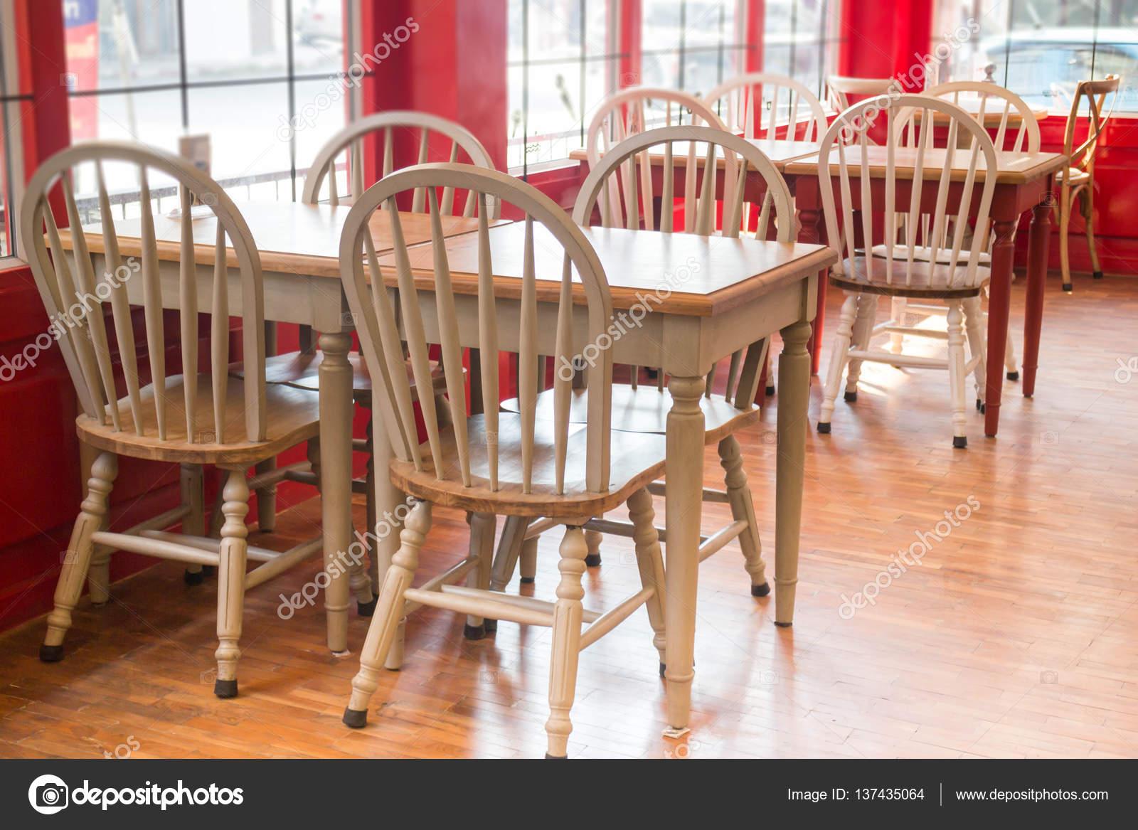Single Vintage White Kitchen Chair Stock Photo C Nalinrat 137435064