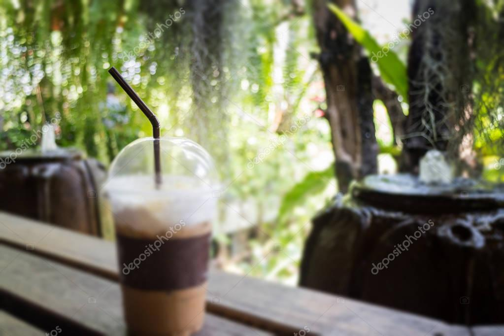 Iced Coffee With Milk Foam