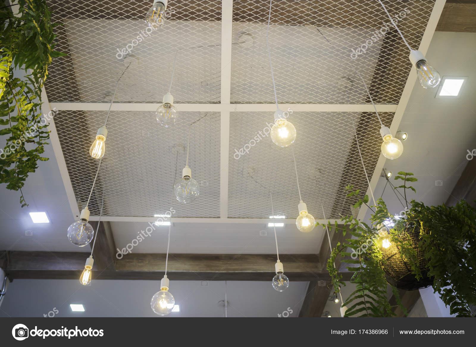 Fern In Plant Pot Hanging On Ceiling Stock Photo C Nalinrat 174386966