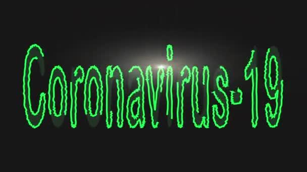 Koronavirus-19 text s erupcí animace, stock pohyb