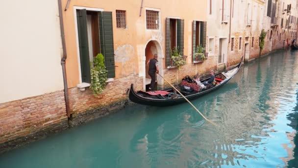 Canal with gondolas in Venice, Olaszország