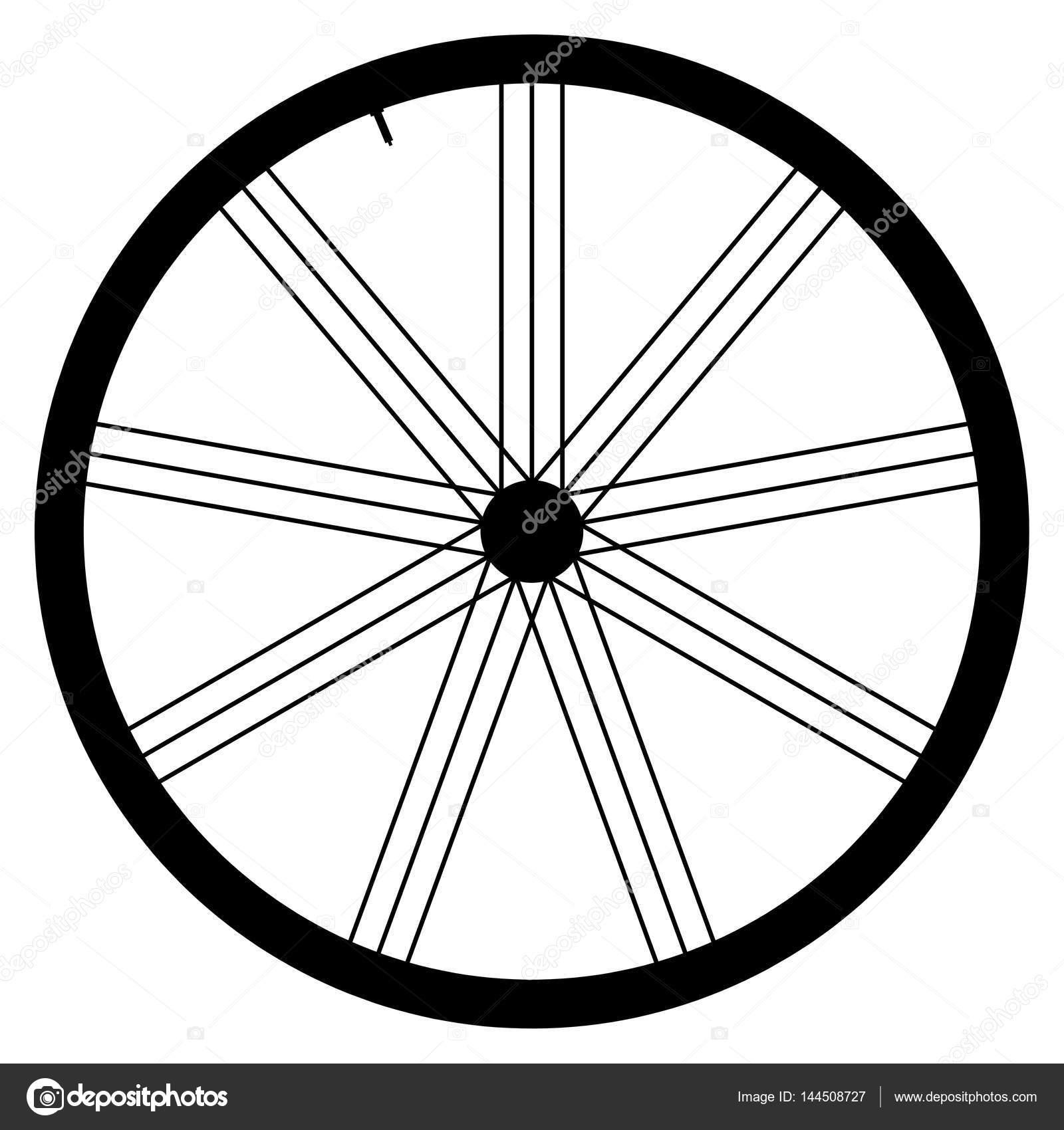 自転車ホイール - 白い背景の上のベクトル図 — ストック ...