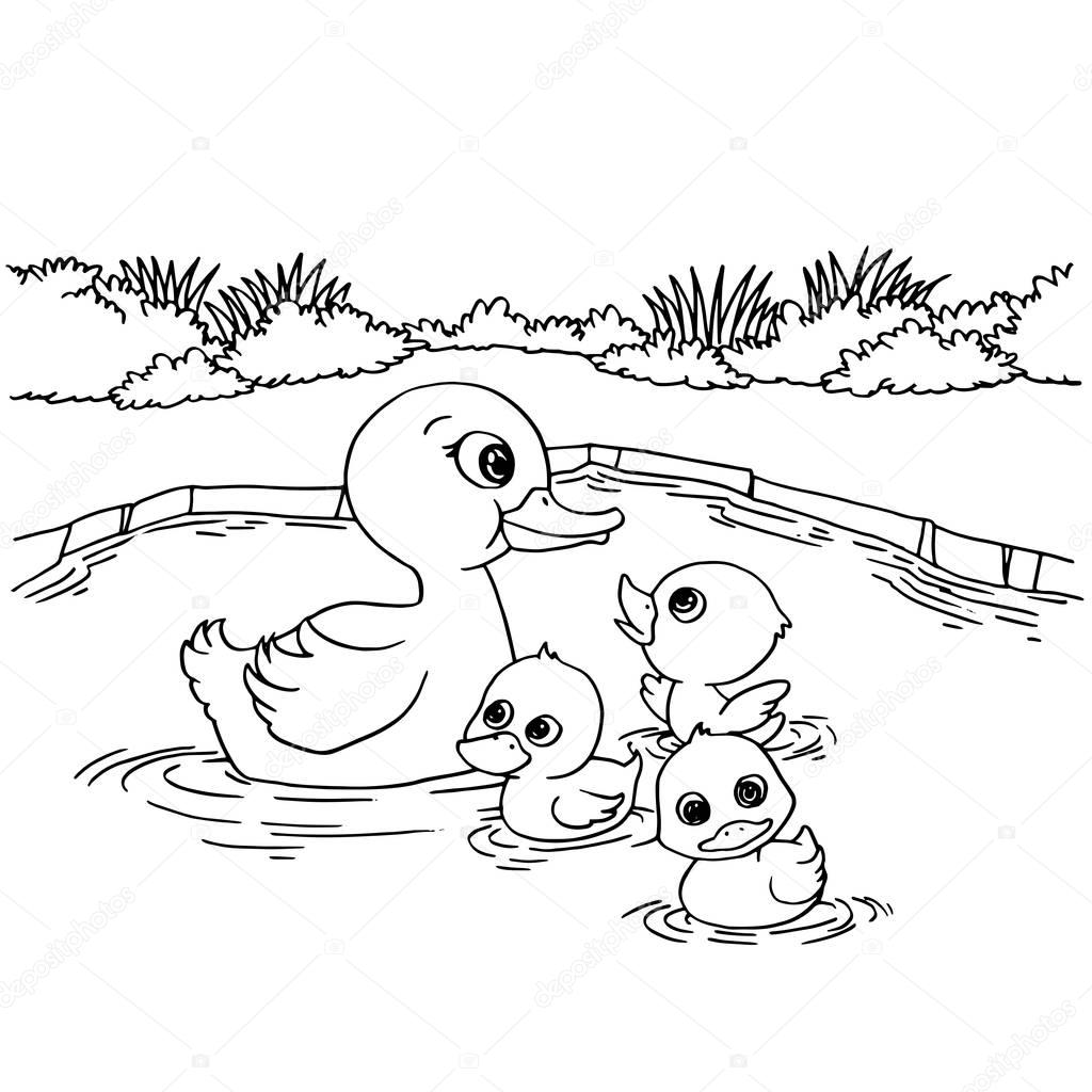 coloring pages on lake - photo#39