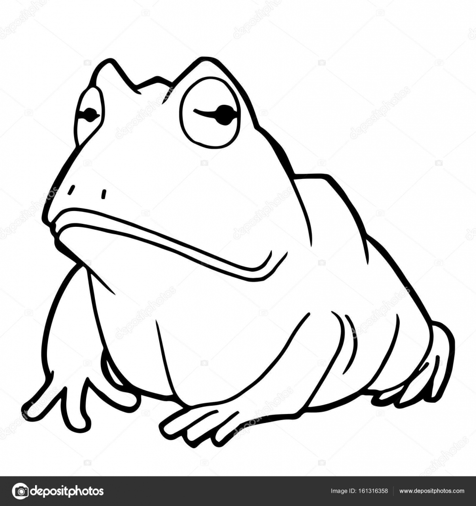 cartoon cute frog coloring page vector — Stock Vector © attaphongw ...