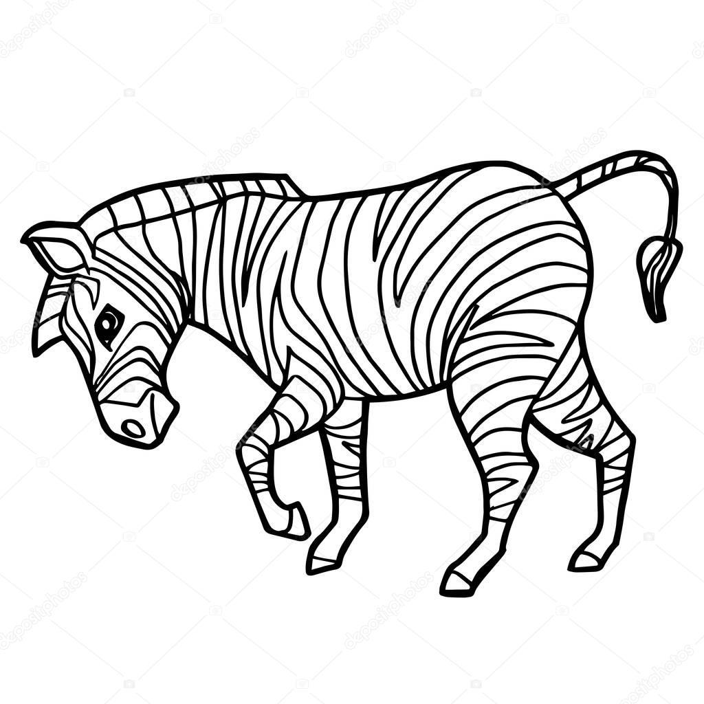 En Iyi Zebra Boyama Sayfasy Hedef Ust Ev Boyama Sayfasi