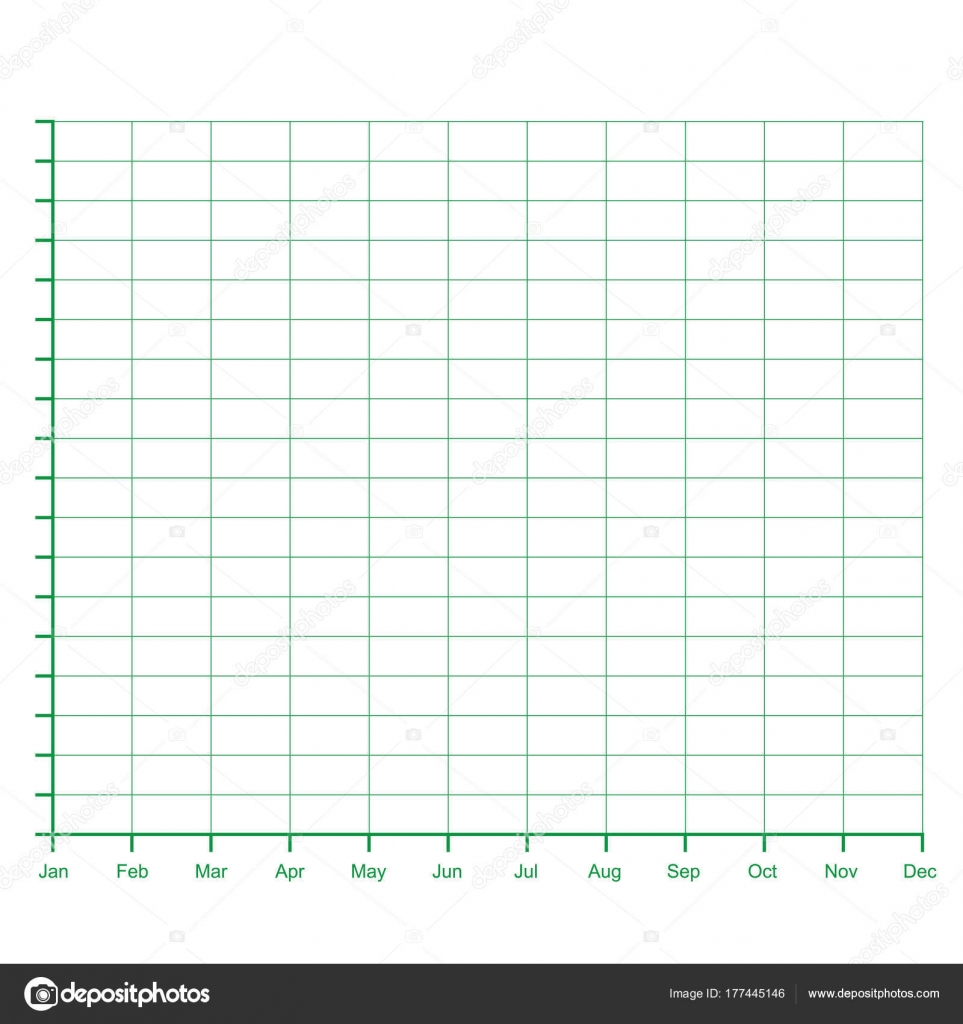 Ratings Line Graph Line Chart Graph Paper Printable Vector Illustration U2014  Stock Vector