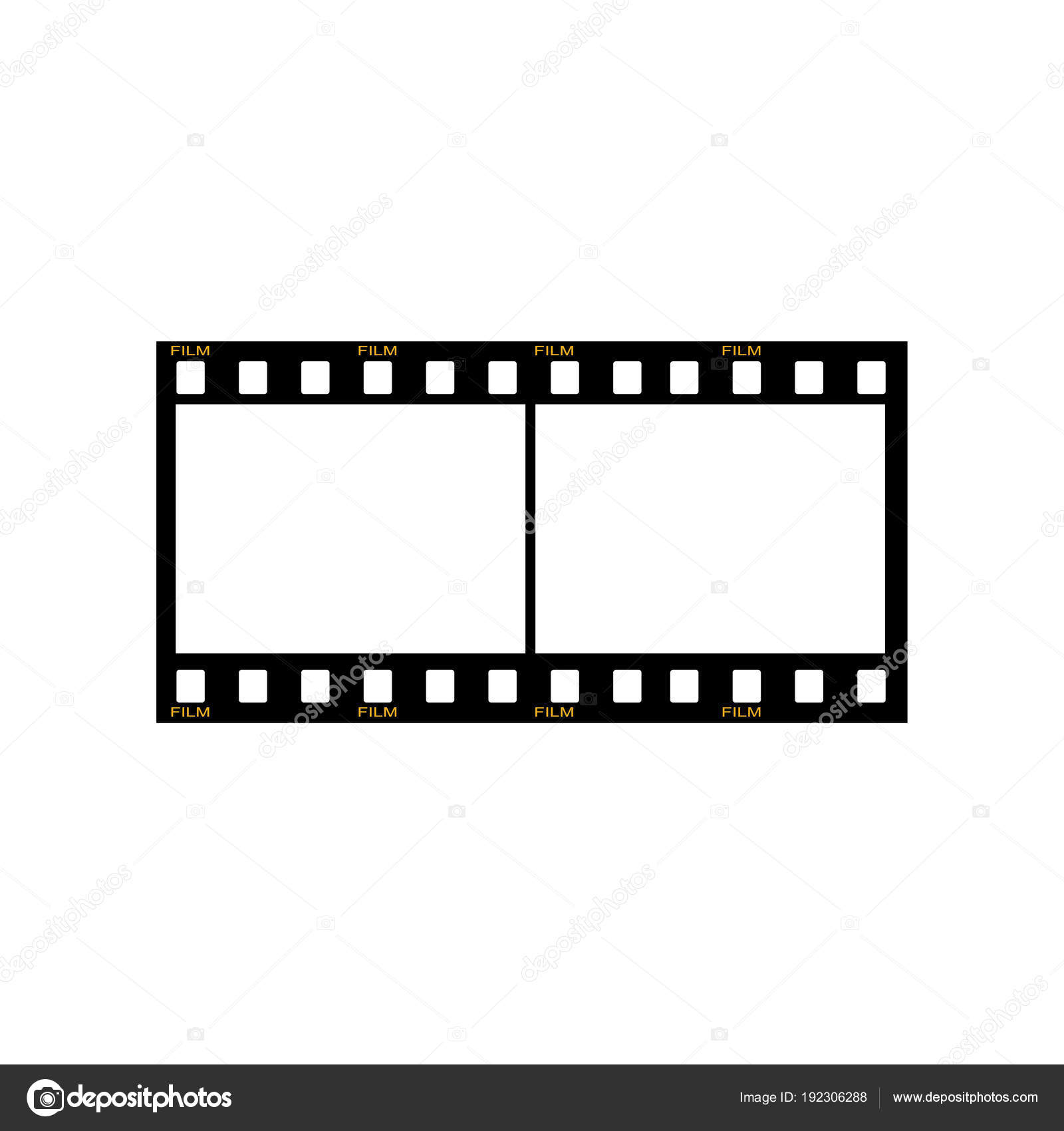 Blank Film Frame Stock Illustration Image Frame Film Vector ...