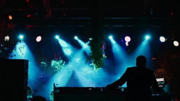 DJ makes music and the lights move.