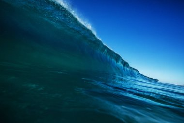 Big wave with clear sea water