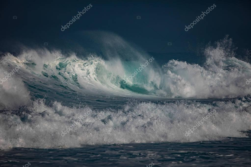 Ocean wave. Rough Sea water surface