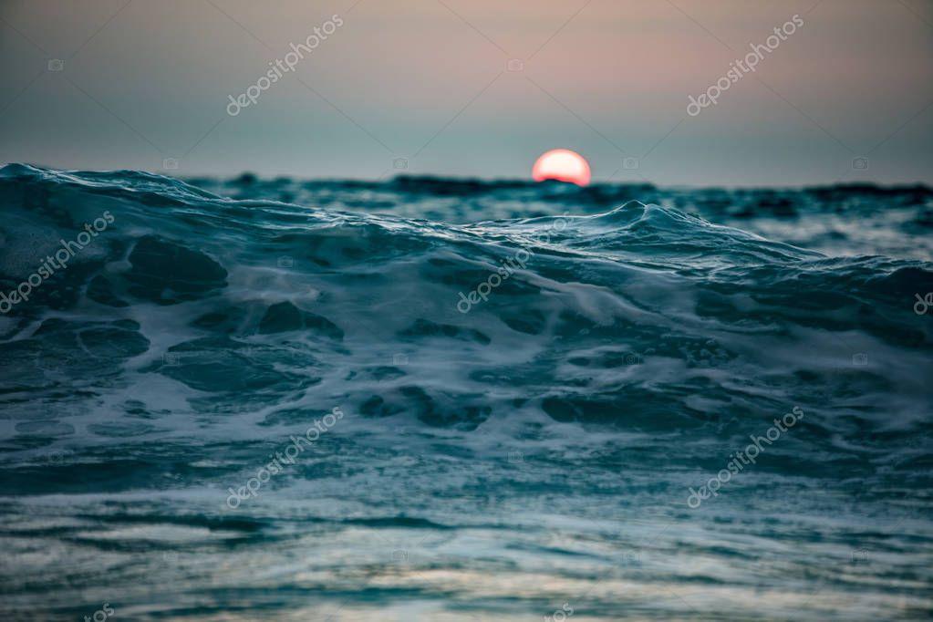 Ocean wave. Rough Sea water surface