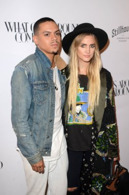 Actors Evan Ross and Ashlee Simpson