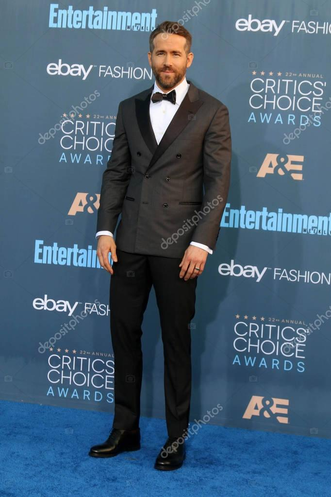 Actor Ryan Reynolds at the 22nd Annual Critics Choice Awards, Barker Hanger, Santa Monica, CA 12-11-16 stock vector