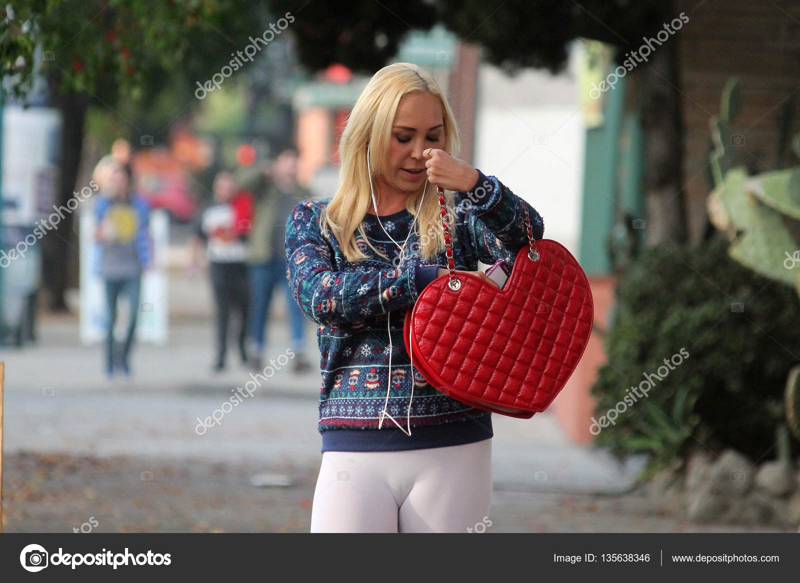 958efddba3a6af Actress Mary Carey Celebrity Rehab Star spotted out shopping while wearing  tight leggings and an Ugly Christmas Sweater, North Hollywood, ...