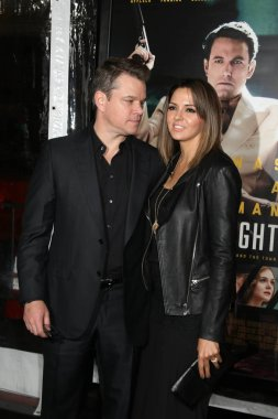 actor Matt Damon with Luciana Barroso
