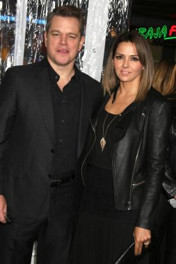 actor Matt Damon with Luciana Barroso