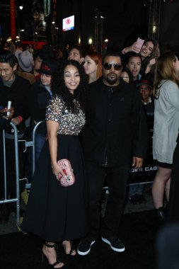 rapper Ice Cube with wife Kimberly Woodruff