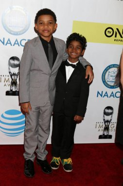 actors Lonnie Chavis and Sunny Pawar