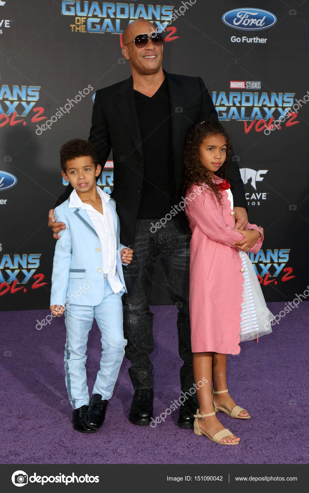Vin diesel hania riley sinclair vincent sinclair at the guardians of the galaxy vol 2 los angeles premiere dolby theater hollywood
