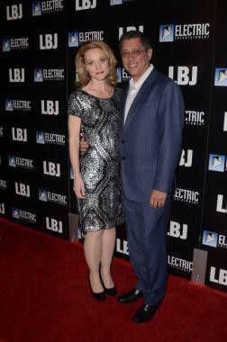 Actress Lisa Brenner with scenarist Dean Devlin