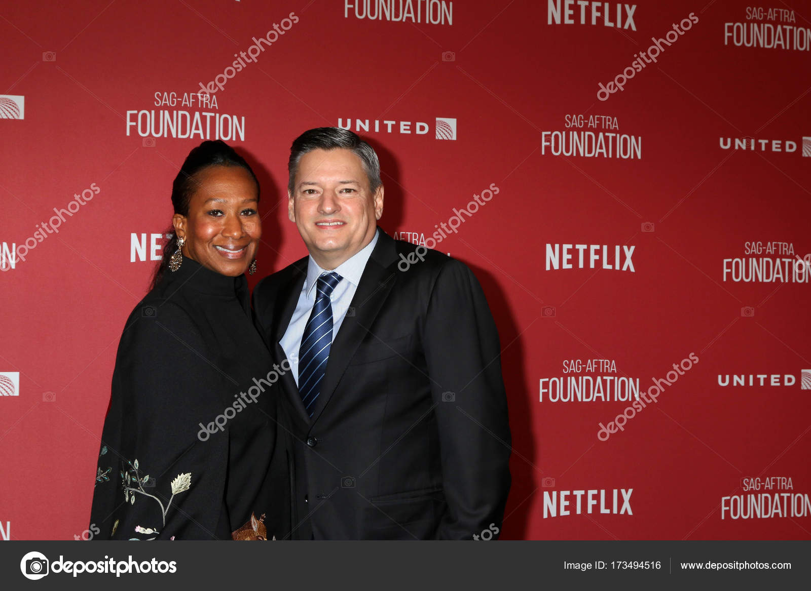 Ambassador Nicole Avant with businessman Ted Sarandos
