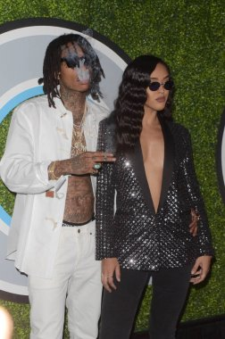 Singer Wiz Khalifa and Izabela Guedes at the GQ Men of the Year 2017 Party, Chateau Marmont, Los Angeles, CA