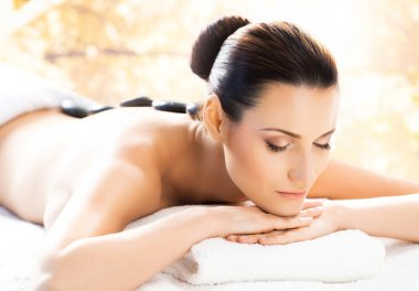 healthy woman in spa salon