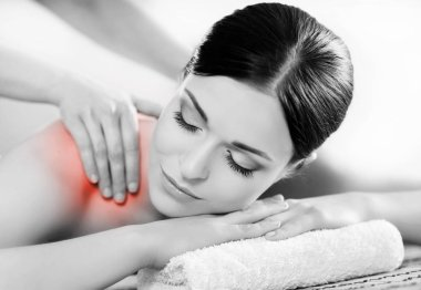 Woman relaxing on a spa massage