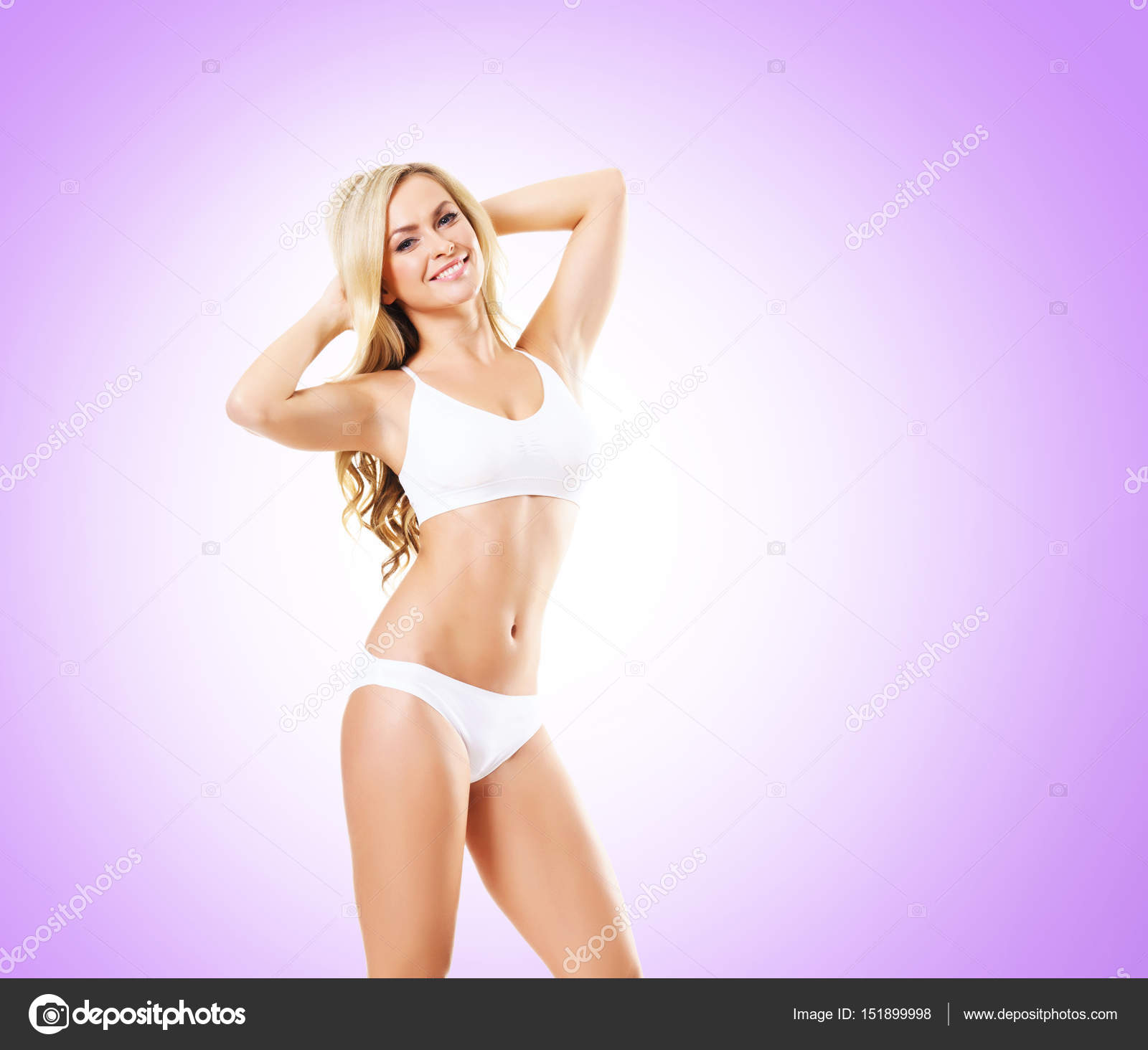 745dffa0210c67 Blonde Frau in weißen Dessous — Stockfoto © shmeljov #151899998