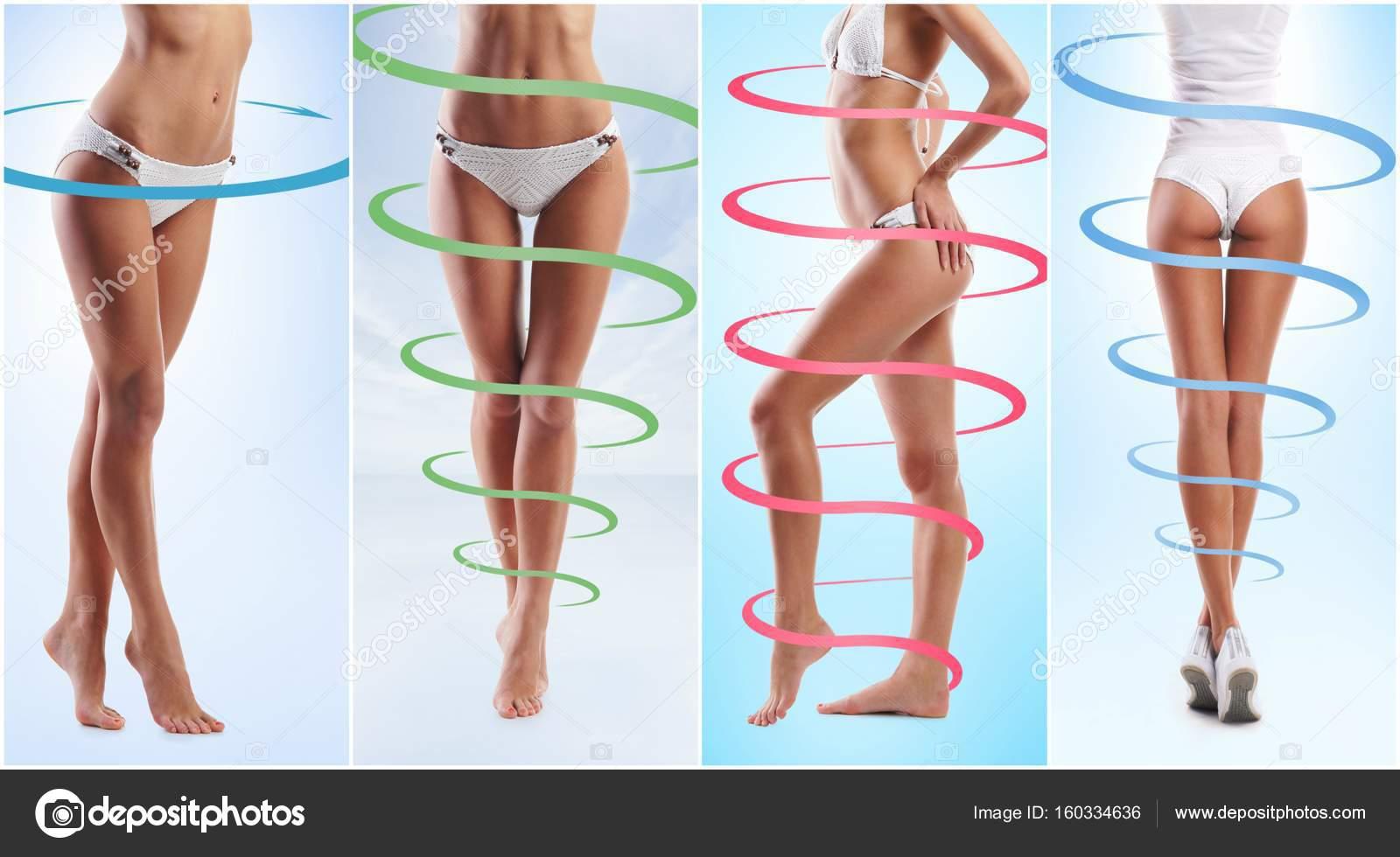 cuerpo femenino en ropa interior deportiva blanco — Foto de stock ...