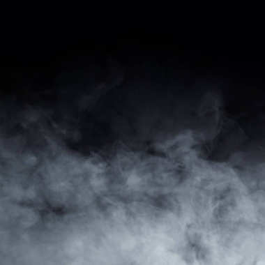Smoke texture over black background. Abstract patter.