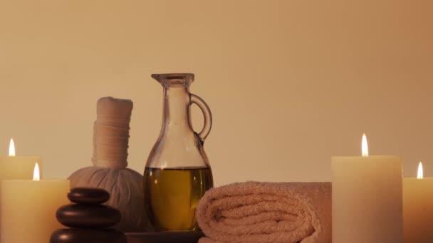 Aromatherapie, orientalische Massage und Wellness-Behandlungskonzept. Hintergrund der Entspannung.