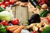 Rám vyrobený z čerstvé zeleniny
