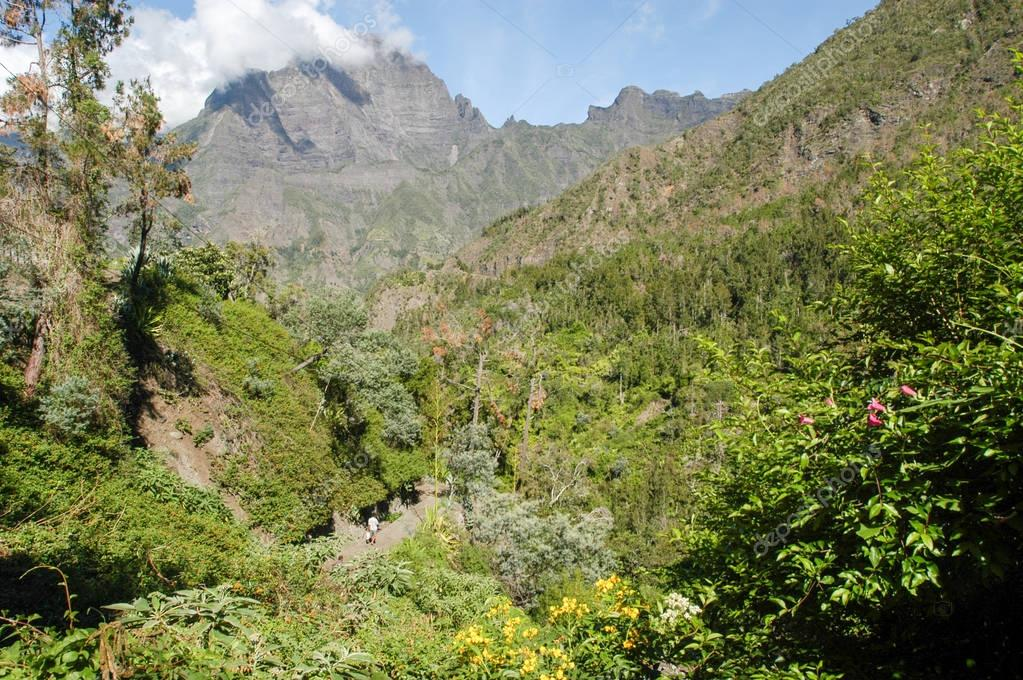 Landscape of Cirque of Cilaos