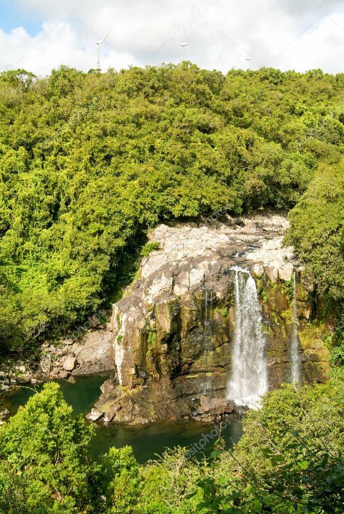 Tropical waterfall of Bassin Boeuf