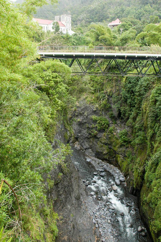 Old bridge of Salazie on La Reunion island