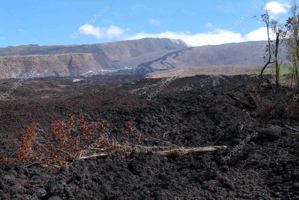 Lava flow of La Reunion Island